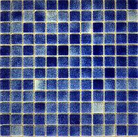 Средняя мозаичная плитка Синий
