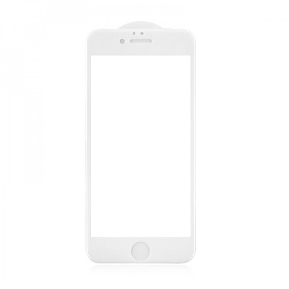 Защитное стекло 5D A-Case Apple iphone 6, iphone 6S, Окантовка White