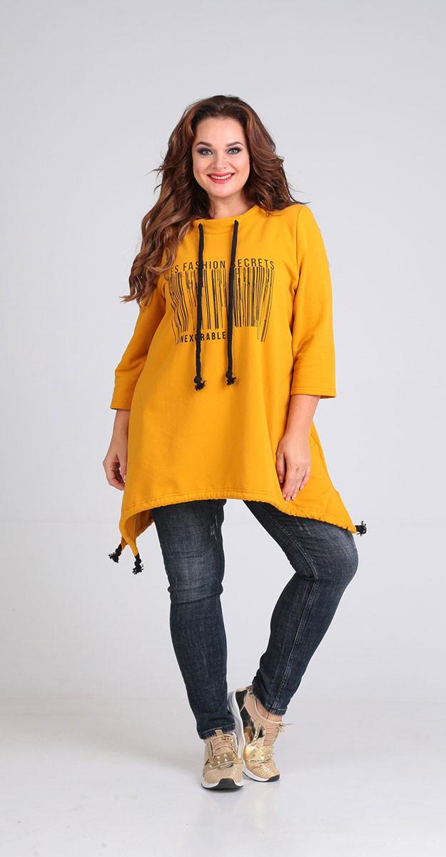 Блузка Andrea Style-00196, горчица, 50