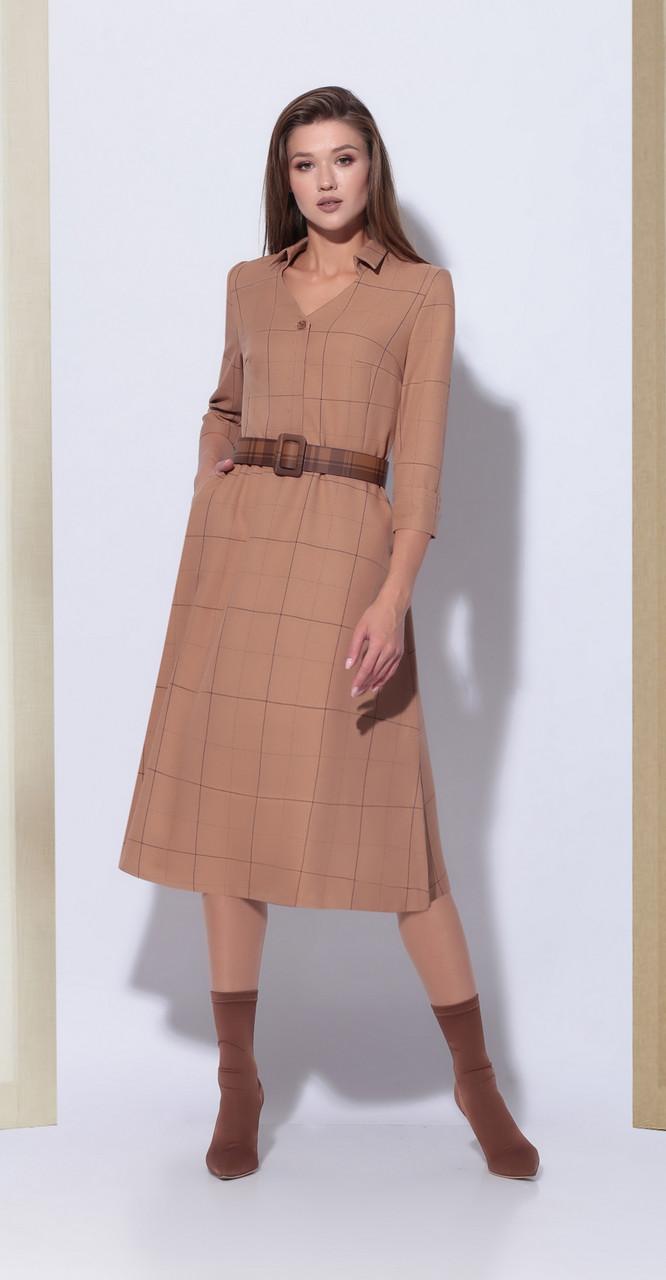 Платье КаринаДелюкс-В-189, бежевый, 44