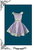 Платье для девочки нарядное из атласа