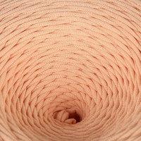 Пряжа трикотажная широкая 100м/350гр, ширина нити 7-8 мм (персиковый)