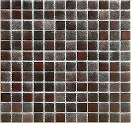 Средняя мозаичная плитка тёмно-коричневая