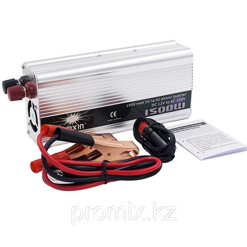 Преобразователь напряжения (инвертор) DOXIN 12В>220В, 1500Вт.