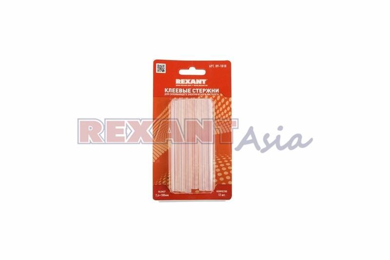 Клеевые стержни d=7,4 мм, L=100 мм, прозрачные (упак. 12 шт.) (блистер) REXANT ( 09-1010 )