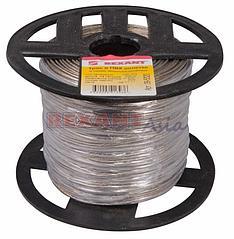 Трос стальной в ПВХ оплетке d=2,0 мм, прозрачный (бухта 200 м)  REXANT ( 09-5320 )