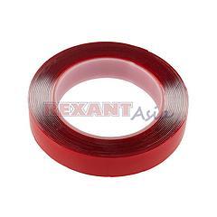 Двухсторонний скотч REXANT, прозрачный, на акриловой основе, 20 мм, ролик 5 м ( 09-6520 )