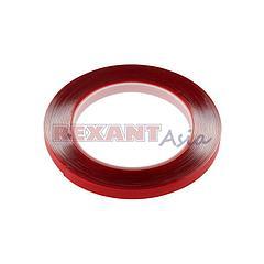 Двухсторонний скотч REXANT, прозрачный, на акриловой основе, 9 мм, ролик 5 м ( 09-6509 )