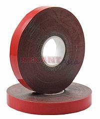 Двухсторонний скотч REXANT, серый, на HBA акриловой основе, 12 мм, ролик 5 м ( 09-6012 )