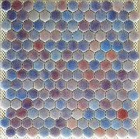Шестигранная мозаичная плитка сиреневый туман