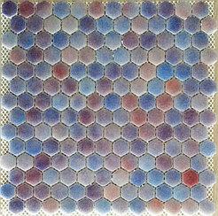 Шестигранная мозаичная плитка сиреневый