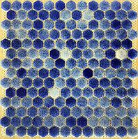 Шестигранная мозаичная плитка синий