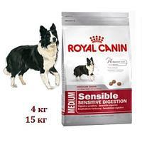 Корм для активных стареющих собак с чувств. пищев. Royal Canin MEDIUM SENSIBLE DIG CARE 20 kg