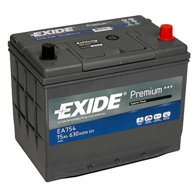Аккумулятор автомобильный EXIDE Premium EA 754 75Ah