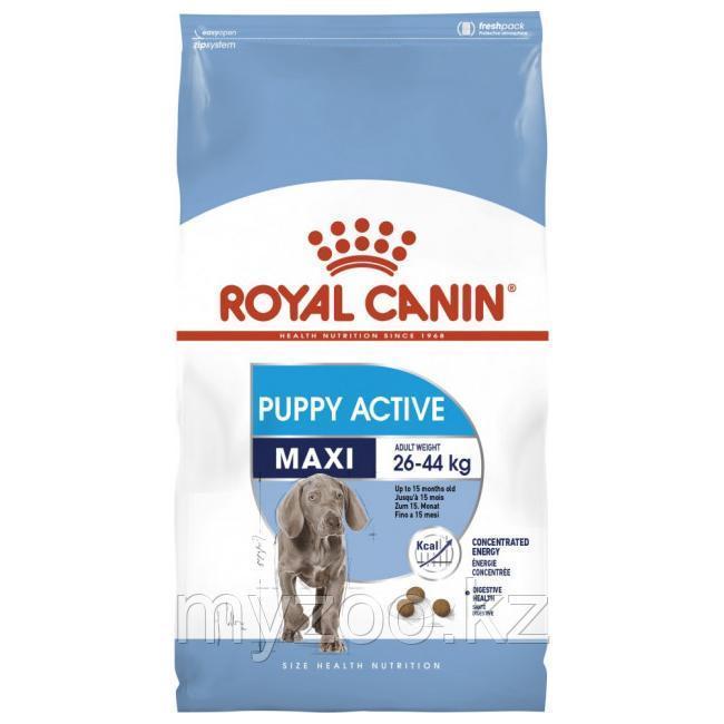 Корм для активных щенков крупных пород Royal Canin MAXI PUPPY ACTIVE 15 kg.
