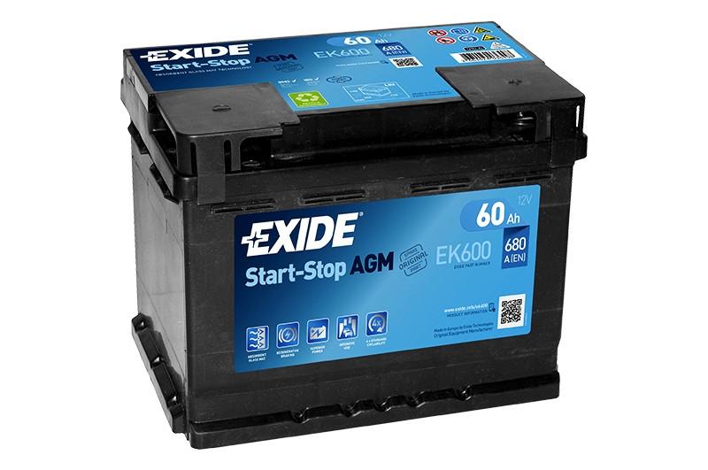Аккумулятор автомобильный EXIDE Premium EK 600 60Ah