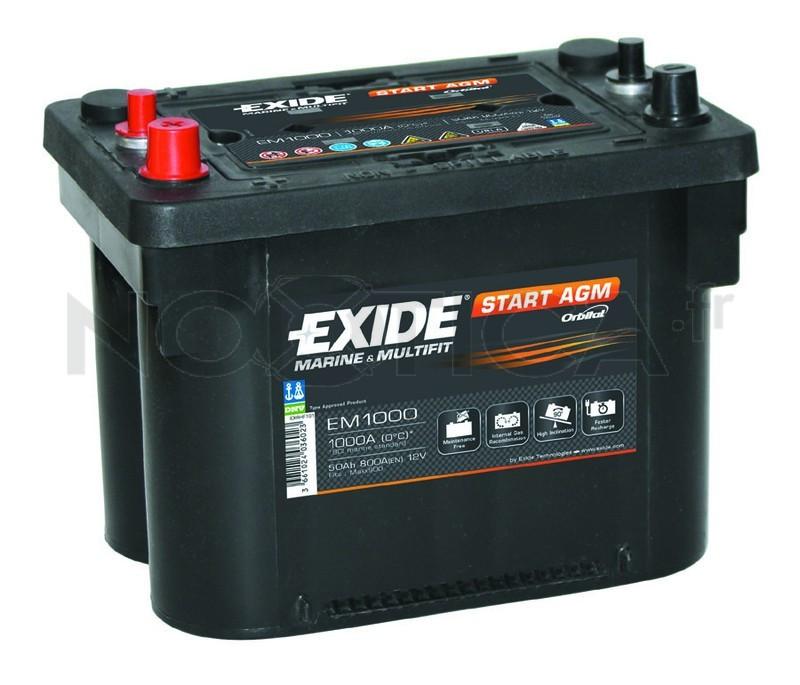 Аккумулятор для автомобиля EXIDE Premium EM 1000 50Ah