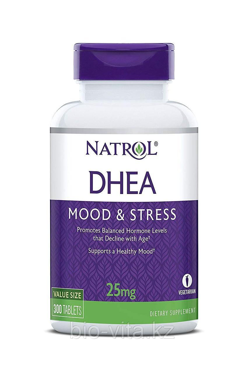 Natrol, ДГЭА, DHEA, 25 мг, 300 таблеток.