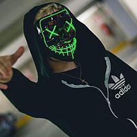 """Неоновая маска """"Судная ночь"""", зеленая."""