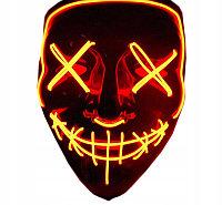 """Неоновая маска """"Судная ночь"""", оранжевая."""
