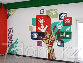 Трафаретная роспись стен, фото 3