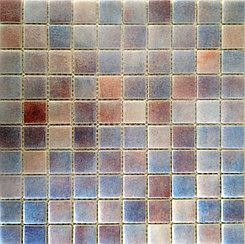 Крупная стеклянная мозаика Сиреневый