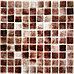 Крупная стеклянная мозаика тёмно коричневый, фото 2