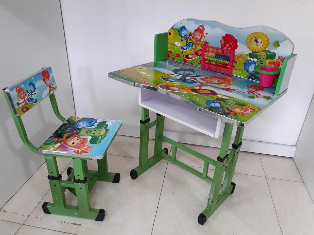 Детская парта со стулом регулируемая по высоте. Отличный подарок.