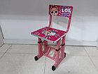 Детская парта со стулом регулируемая по высоте. LOL. Отличный подарок., фото 3