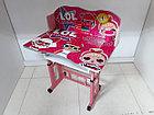 Детская парта со стулом регулируемая по высоте. LOL. Отличный подарок., фото 5