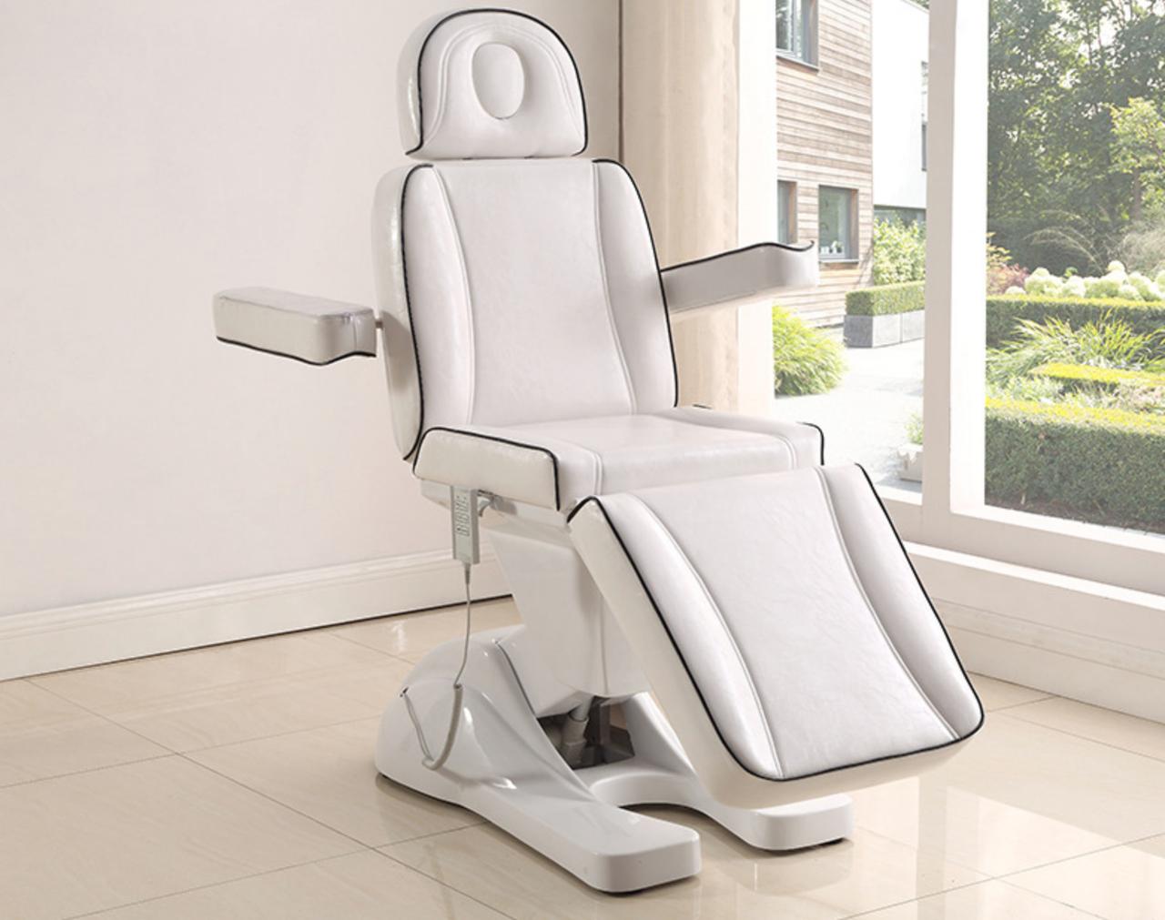 Кресло кушетка для косметолога / массажиста с электроприводом Люкс - фото 1