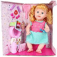 """3360-7-2 Кукла с волосами """"Сестры"""" говорит фразы (бутылочка,заколка,горшок,памперс) 38*36см, фото 1"""