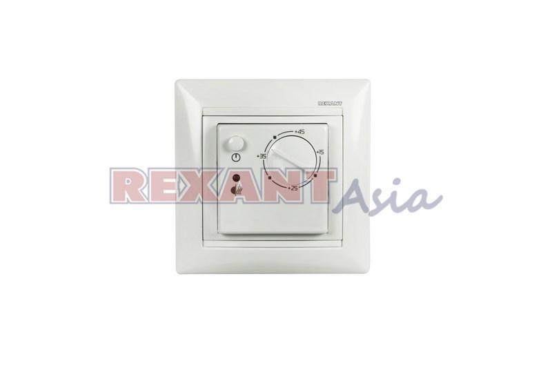 Терморегулятор механический RX-308B белый  REXANT (совместим с Legrand серии Valena), (51-0562)