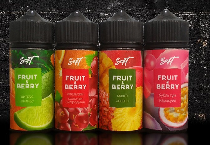 Жидкость для электронных сигарет  Fruit&Berry 100 мл (0 , 3, 6 мг)