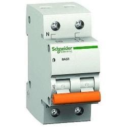 Автоматический выключатель 11211 ВА 63 (2ф) 6А Schneider