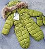 """Зимний комбинезон """"Moncler"""" для мальчиков от 3 до 24 месяцев, зеленый."""