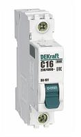 Автоматический выключатель DEKraft ВА 101 1P 16А 4,5кА С