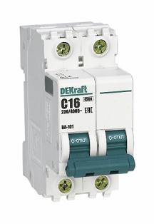 Автоматический выключатель DEKraft ВА 101 2P 6А 4,5кА С