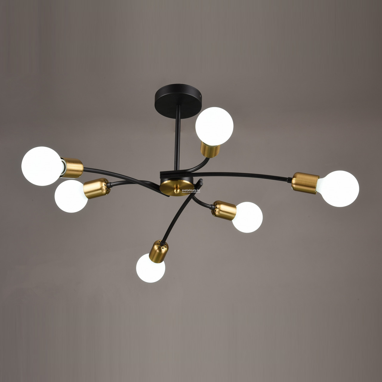 Люстра 6 ламп в стиле современный модерн