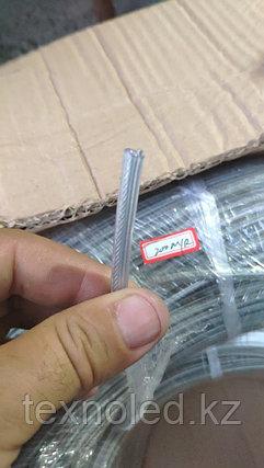 Прозрачный кабель 2*0.75+трос, фото 2