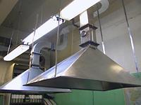Зонт вытяжной островной из оцинкованной стали с жироуловителем 1000x1200