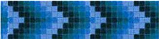 Фриз для бассейна сине-чёрный