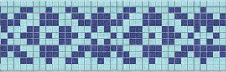 Фриз для бассейна синий голубой