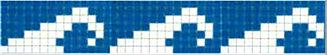 Фриз для бассейна бело-синий