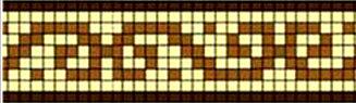Фриз для бассейна жёлто-коричневый