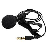 Петличный микрофон 3.5 мм jack черный, фото 1