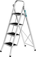 Лестница-стремянка СИБИН стальная c широкими ступенями, 4 ступени