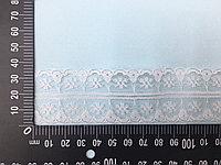Кружевная лента-гипюр белого цвета,35 мм