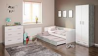 Двухъярусная кровать Polini 4210 белый-бетон