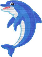 Панно для бассейна сине-голубой